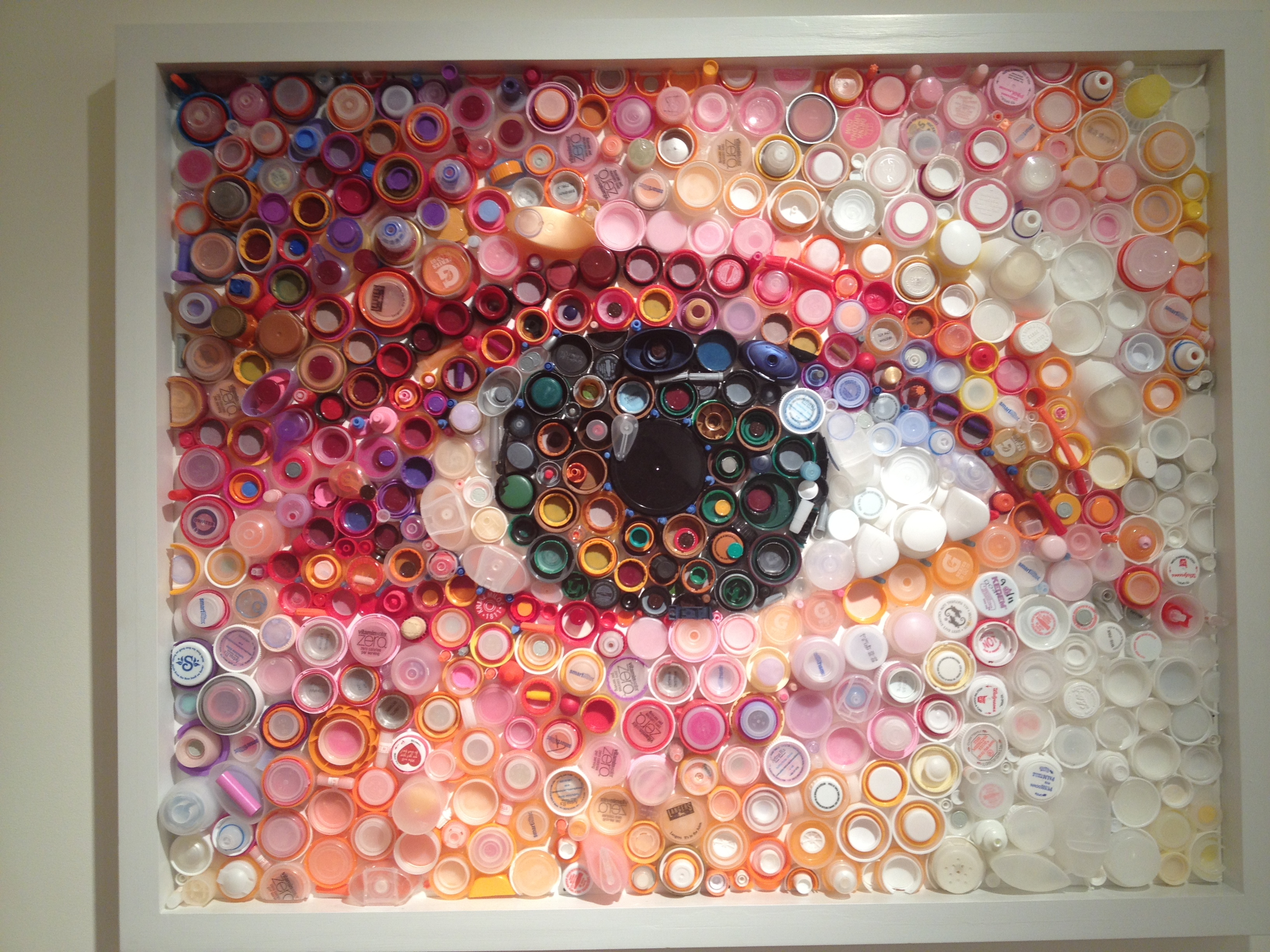 Keeping an eye on plastic pollution 20 something for Plastic water bottle art