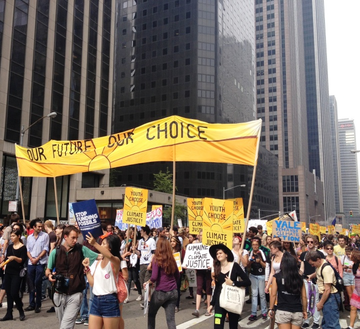 Youth contingent: Our Future Our Choice
