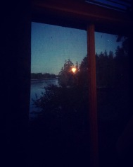 Strawberry Moon from Porthole Cabin